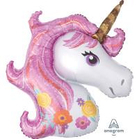 Parti Yıldızı - SShape Magical Unicorn Paketli Folyo Balon