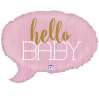 Grabo - Sshape Merhaba Bebek ( Kız ) Folyo Balon 61cm