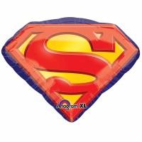 Parti Yıldızı - Sshape Superman Amblemi Balon 66x50cm