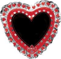 Parti Yıldızı - Sshape Yazılabilir Kalp Balon 71x71cm