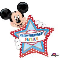 Parti Yıldızı - SShape Yazılabilir Mickey Balon 60x76cm