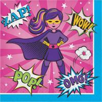 Parti Yıldızı - Superhero Girl 16 lı Peçete