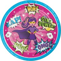 Parti Yıldızı - Superhero Girl 8 li Tabak