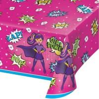 Parti Yıldızı - Superhero Girl Masa Örtüsü