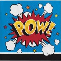 Parti Yıldızı - Superhero Sloganları Küçük Peçete 16 Adet