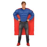 Parti Yıldızı - Superman Kostüm ve Pelerin - M Beden