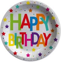 Parti Yıldızı - Superstar Birthday Tabak 8 Adet