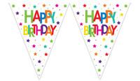 Parti Yıldızı - Superstar Birthday Üçgen Bayrak Afiş