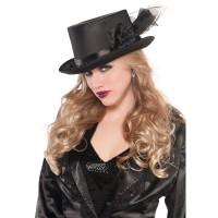 Parti Yıldızı - Süslü Siyah Şapka