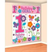 Parti Yıldızı - Tatlı 1 Yaşım Kız Duvar Dekor Kiti
