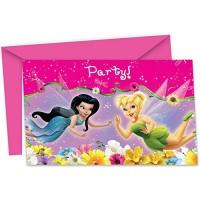 Parti Yıldızı - Tinkerbell Fairies Davetiye