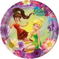 Parti Yıldızı - Tinkerbell Fairies Magic Tabak 8 adet