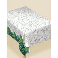 AMSCAN - Tropikal Yapraklar Desenli Masa Örtüsü 132x228cm