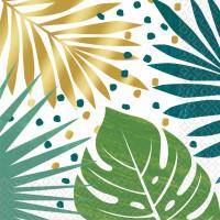 AMSCAN - Tropikal Yapraklar Desenli Peçete 16 Adet 33x33cm
