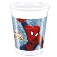 Parti Yıldızı - Ultimate Spiderman 8 li Plastik Bardak