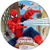Parti Yıldızı - Ultimate Spiderman Büyük Tabak 8 Adet
