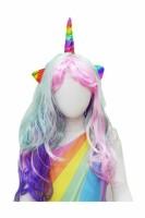 Parti Yıldızı - Unicorn Boynuzlu Peruk
