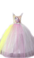 Parti Yıldızı - Unicorn Kostüm Tarlatanlı