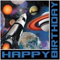 Parti Yıldızı - Uzay Partisi Happy Birthday 16 lı Peçete