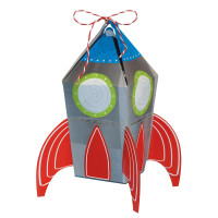 AMSCAN - Uzay ve Roket Partisi Hediye Kutusu 8 Adet