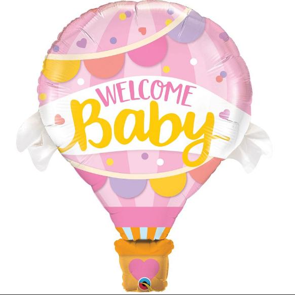 Welcome Baby Pembe Kapadokya 28 Folyo Balonlar Parti Yildizi