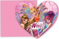 Parti Yıldızı - Winx Powerment Kalp Davetiye