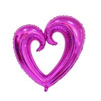 Parti Yıldızı - XO Fuşya Dev Kalp Folyo Balon