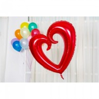 Parti Yıldızı - XO Kırmızı Dev Kalp Folyo Balon