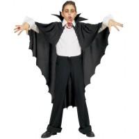 Parti Yıldızı - Yakalı Siyah Vampir Pelerini