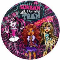 Parti Yıldızı - Yeni Monster High Tabak