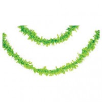 Parti Yıldızı - Yeşil Pelür 7,65 mt. Uzunluğunda Asma Süs/Garlent