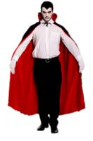Parti Yıldızı - Yetişkin Pelerini Çift Taraflı (Siyah/Kırmızı)