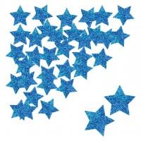 Parti Yıldızı - Yıldız Simli Konfeti Mavi 30 Adet